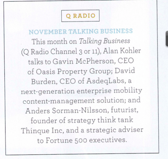 Qantas Magazine Futurist Anders Sorman-Nilsson
