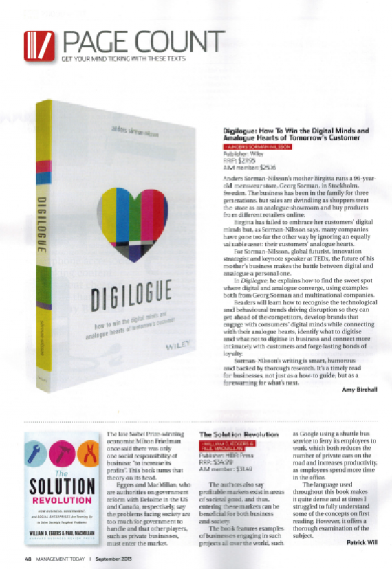 Digilogue Management Today Futurist Anders Sorman-Nilsson
