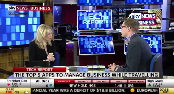 Futurist Anders Sorman-Nilsson on the Top 5 Apps to Manage Business from the Air / Sky News Business Interview