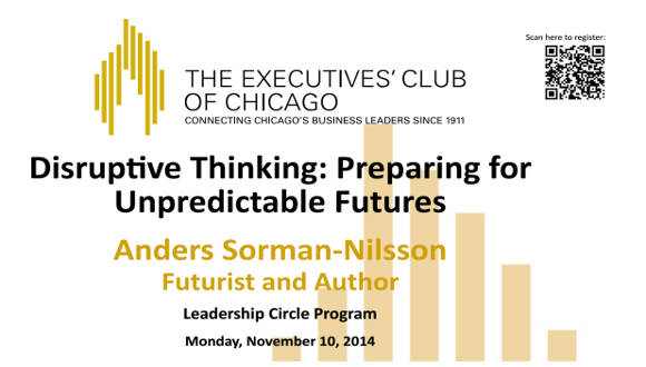 Disruptive Thinking: Preparing for Unpredicatable Futures