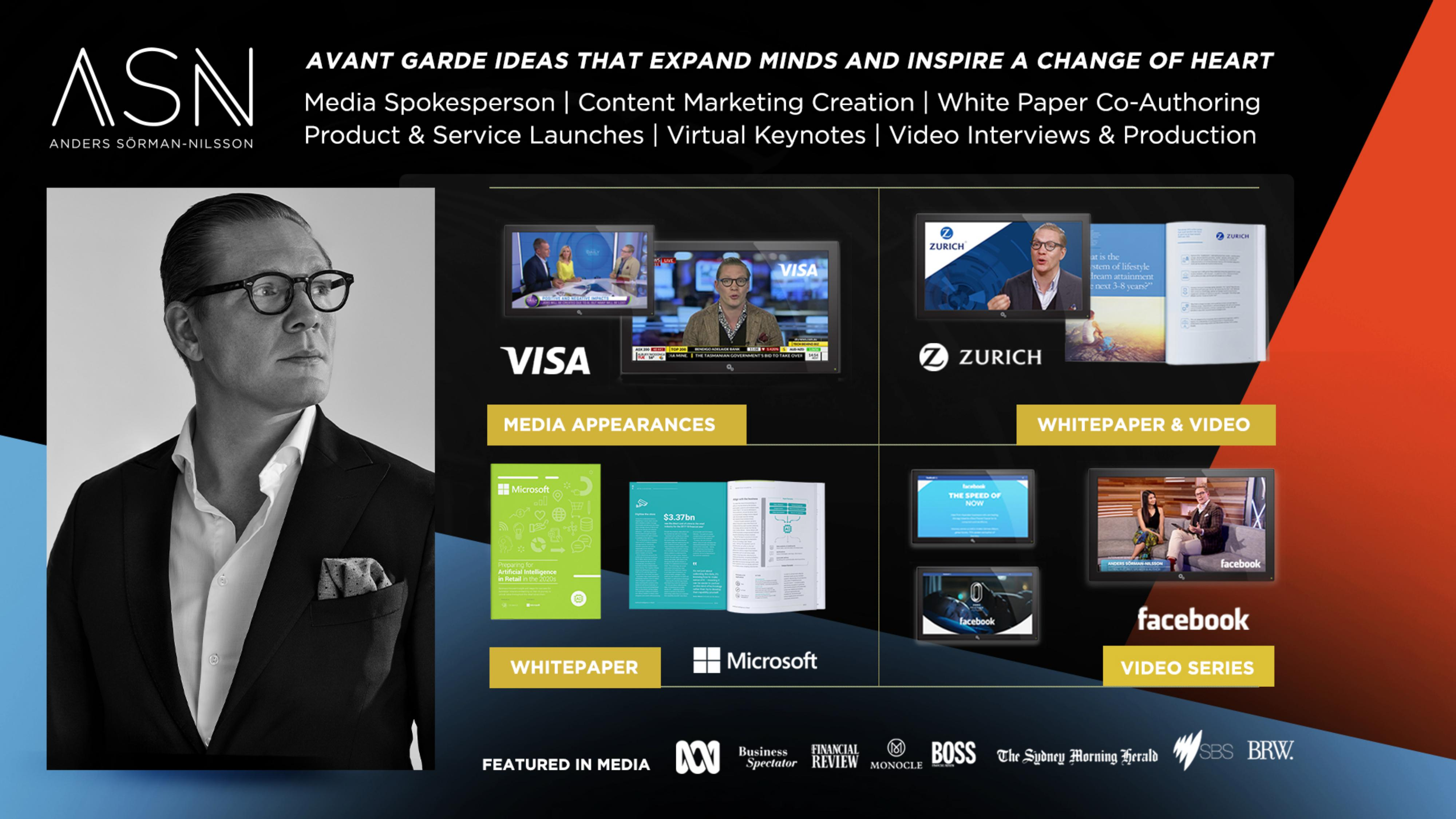 Brand Ambassador Futurist Anders Sorman-Nilsson