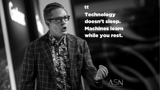 """Futurist Anders Sörman-Nilsson: """"Technology doesn't sleep. Machines learn while you rest"""""""